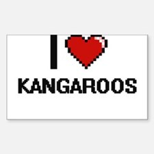 I Love Kangaroos Decal