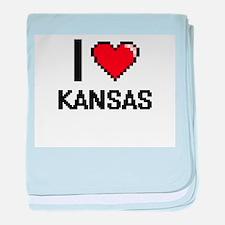 I Love Kansas baby blanket