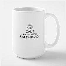 Keep calm and escape to Rincon Beach Californ Mugs