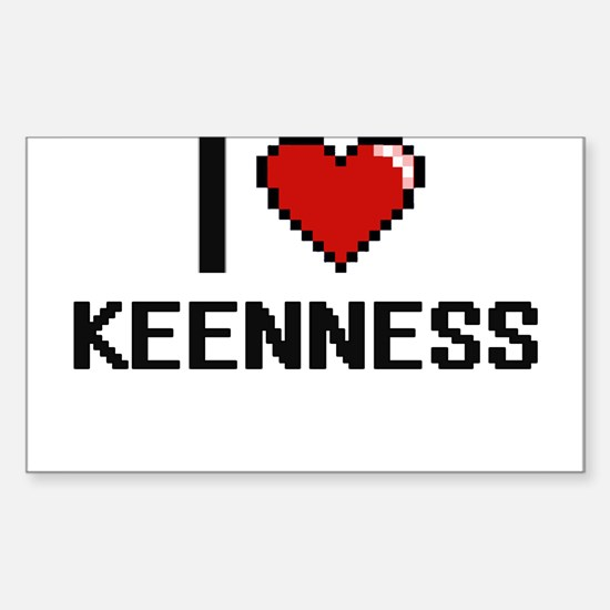 I Love Keenness Decal