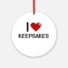 I Love Keepsakes Ornament (Round)