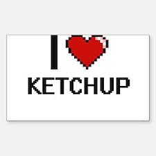 I Love Ketchup Decal