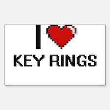 I Love Key Rings Decal