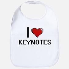 I Love Keynotes Bib