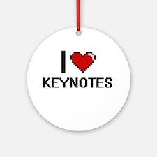 I Love Keynotes Ornament (Round)