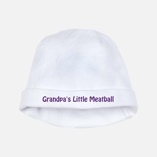 Grandpa's Little Meatball baby hat