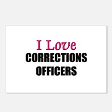 I Love CORRECTIONS OFFICERS Postcards (Package of