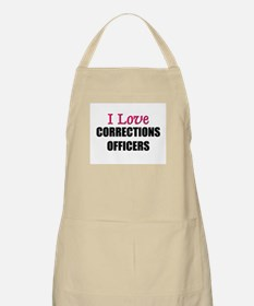 I Love CORRECTIONS OFFICERS BBQ Apron