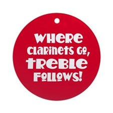 Funny Clarinet Christmas Ornament