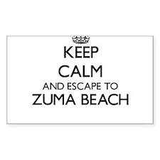 Keep calm and escape to Zuma Beach Califor Decal