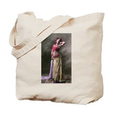Vintage Bellydance Red Gold Purple Tote Bag
