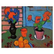 Jawlensky - Still Life with Flowers and Oranges Framed Print