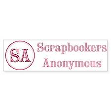 Scrapbookers Anonymous Bumper Bumper Sticker
