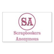 Scrapbookers Anonymous Rectangle Decal