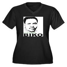 Steven Biko Women's Plus Size V-Neck Dark T-Shirt
