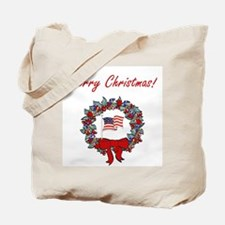 Military Merry Christmas Tote Bag