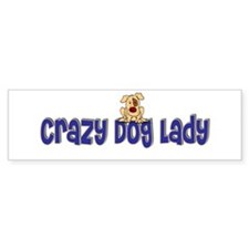 Crazy Dog Lady Bumper Car Sticker