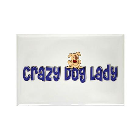 Crazy Dog Lady Rectangle Magnet