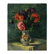 Guillaumin - Still Life with Flowers Throw Blanket