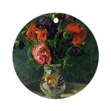 Guillaumin - Still Life with Flower Round Ornament