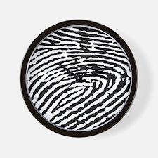Fingerprints Wall Clock