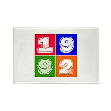 1992 Birthday Designs Rectangle Magnet