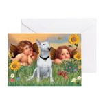 Angels & Bull Terrier #1 Greeting Card