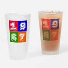1987 Birthday Designs Drinking Glass