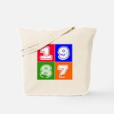 1987 Birthday Designs Tote Bag
