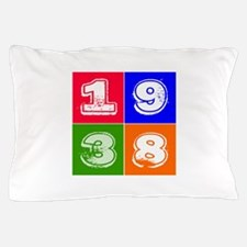 1938 Birthday Designs Pillow Case