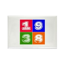 1938 Birthday Designs Rectangle Magnet