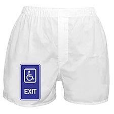 Exit Handicapped Sign Boxer Shorts