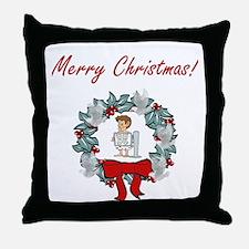 X-ray Tech Merry X-mas Throw Pillow