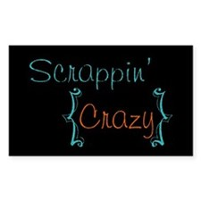 Scrappin' Crazy! Rectangle Decal