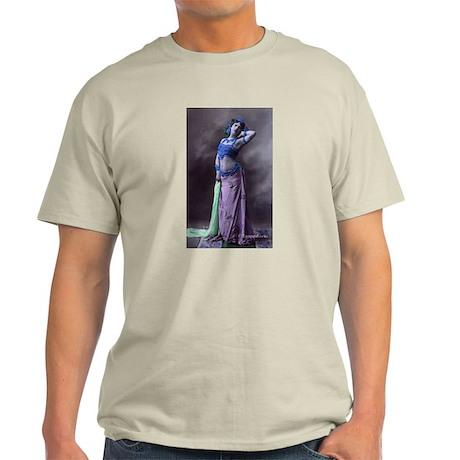 Vintage Bellydancer Blue Purp Light T-Shirt
