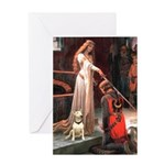 The Accolade Bull Terrier Greeting Card