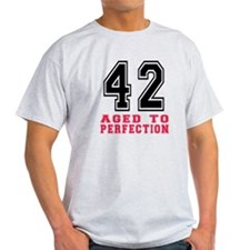 42 Aged To Perfection Birthday Desig T-Shirt