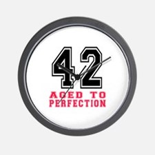 42 Aged To Perfection Birthday Designs Wall Clock