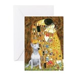 The Kiss & Bull Terrier Greeting Cards (Pk of 20)