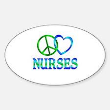 Peace Love Nurses Stickers