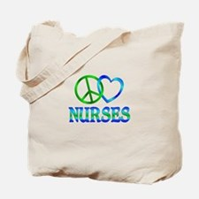 Peace Love Nurses Tote Bag