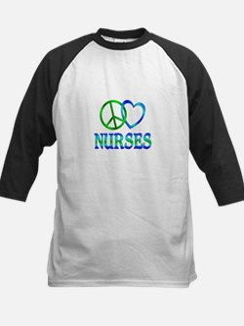 Peace Love Nurses Kids Baseball Jersey