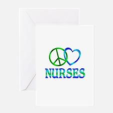 Peace Love Nurses Greeting Card
