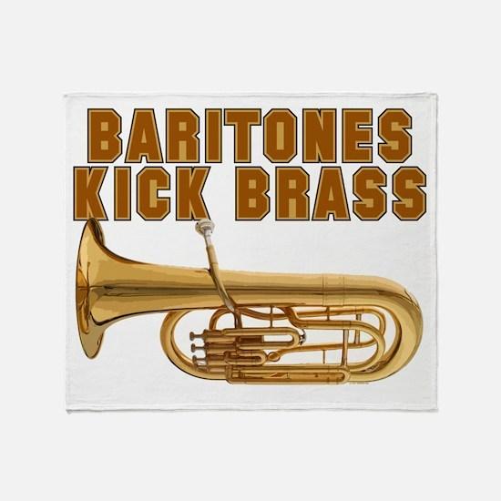 Baritones Kick Brass Throw Blanket