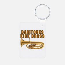 Baritones Kick Brass Aluminum Photo Keychain