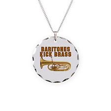 Baritones Kick Brass Necklace Circle Charm