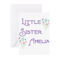 Little Sister Amelia Greeting Cards (Pk of 10)