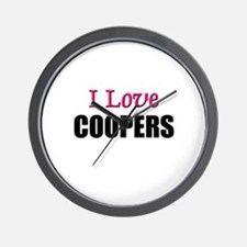 I Love COOPERS Wall Clock