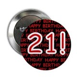 21st birthday button Buttons