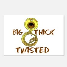 Big,thick, Twisted Postcards (package Of 8)